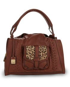 Jessica Simpson Leather Angeline Satchel - Leopard Country Outfitter d05d6699a8c11