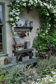 Wouldn't this sound lovely with the rain beating on it? (via Pin by Melinda Moore on Garden Accents | Pinterest)