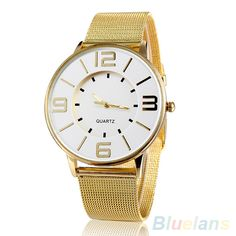 >> Click to Buy << Women's Fashion Golden Color Mesh Stainless Steel Quartz Analog Wrist Watch  232Z #Affiliate