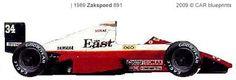 1989-ZAKSPEED 891 F-1