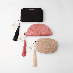 9a3178db3 Bolsos de fiesta hecho en cordón de seda | Modelo Jimena en negro, Carmen  en rosa pastel y Antonia en nude | Diseños OLVIDO MADRID | www.olvidomadrid .es
