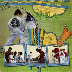 taekwondo scrapbook layouts | ... Scrapping Adventures: Featuring YOUR layouts–Using Quite Bright
