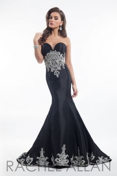 Stunning taffeta gown with hand beaded detail at waist and train. Call 1-815-782-8877 to order!