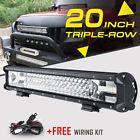 "20""inch 900W CREE LED Work Light Bar Spot Flood Offroad Driving Truck ATV 22/24"""