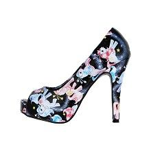 My Little Pony Celestial peep toe platform pump with stiletto heel print and multicolours