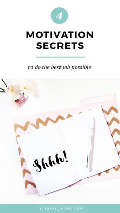 In your career, there are times when you feel uninspired. For those moments, here are 4 motivation secrets to do the best job possible.