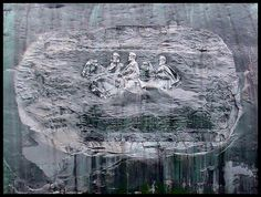 The Carving at Stone Mountain by RichDelux, via Flickr