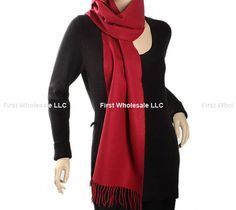 Cashmere Feel Scarf Z19-04 Color:Red