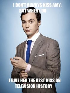 OOH YEAH! Best kiss in TV History! The Big Bang theory