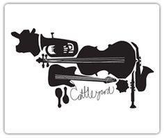 Cattleyard Logo    The music is related to business, the creator of this logo has used various graphics of musical instruments to create the shape of a cow. In my opinion this logo is the best example of the combination of graphic elements to express the name of a company.