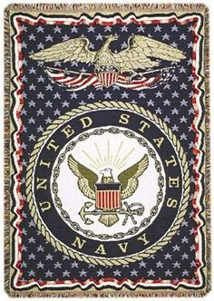 """Oh I just Love this! United States Navy Military 3 Layer Afghan Throw Blanket 50"""" x 70"""". High Quality too! #USNavy #Navy"""
