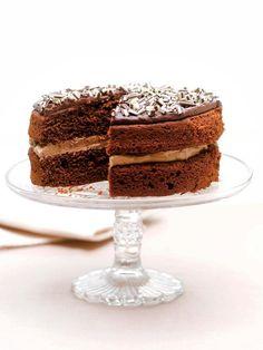 Pastel de chocolate y mousse de café #tarta #cake #chocolate #postresfaciles #postres