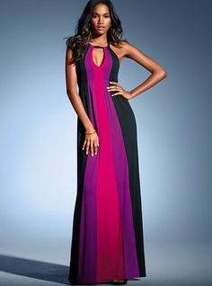 Maxi dress different styles hair