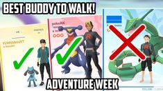 Best Pokemon To Set As Your Buddy During Adventure Week In Pokemon Go! Cool Pokemon, Pokemon Go, Good Buddy, My Friend, Adventure, Youtube, Adventure Game, Adventure Books, Youtubers