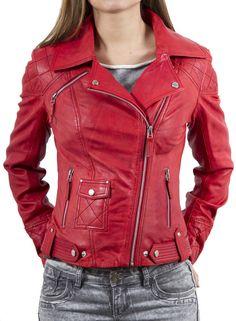 HOT Women's Genuine Lambskin Leather Motorcycle Slim fit sexy Biker Jacket WN41 #WesternOutfit #Motorcycle #EveryDay