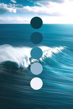Color Schemes Colour Palettes, Nature Color Palette, Blue Colour Palette, Color Palate, Ocean Colors, Colours, Sea Colour, Aesthetic Colors, Color Swatches