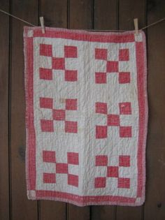 Cute red & white quilt...