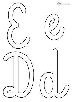 Szablony liter do szorstkich literek | Dzieciaki w domu