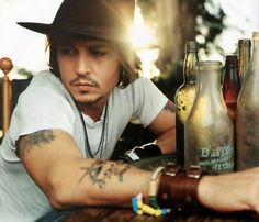 Johnny Depp media gallery on Coolspotters. See photos, videos, and links of Johnny Depp. Rock Chic, Johnny Depp Interview, Look At You, How To Look Better, Johnny Depp Tattoos, Gorgeous Men, Beautiful People, Beautiful Beautiful, Hello Gorgeous