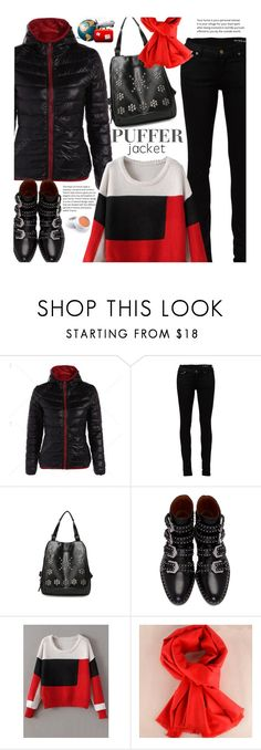 """""""Casual: Perfect Puffer Jackets"""" by beebeely-look ❤ liked on Polyvore featuring Yves Saint Laurent, Givenchy, StreetStyle, airportstyle, wintersweater, twinkledeals and puffers"""