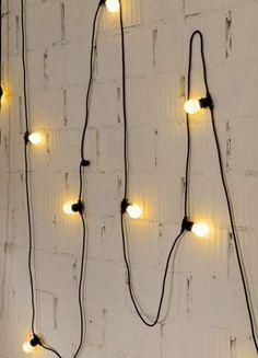 Seletti :: Lampki ogrodowe Bella Vista czarne (mleczne żarówki LED)  s_07771   9design.pl Warszawa
