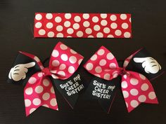 Best Friend Cheer Bows Disney Inspired SET by PixieDustPaiges