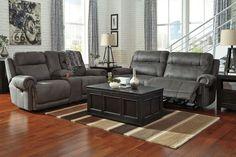 BASEMENT-Austere Gray Reclining Living Room Set