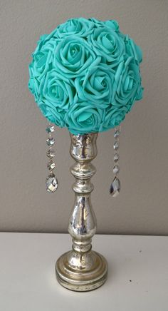 MINT Real Touch Roses flower ball pomander ball by KimeeKouture