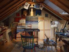 Elizabeth Lennie's home and charming attic studio