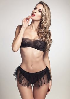 Layers of tulle and lace - Chantal Thomass Coup de Foudre Balconette Bra and Skirted Thong