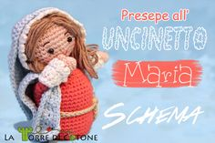 Maria & links to more nativity characters Crochet Amigurumi, Amigurumi Toys, Amigurumi Patterns, Crochet Toys, Crochet Patterns, Crochet Winter, Holiday Crochet, Knit Or Crochet, Hand Crochet