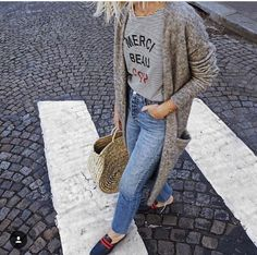Alex Stedman The Frugality ( Fashion Days, Spring Fashion, The Frugality, Fall Outfits, Cute Outfits, Loafers Outfit, Backless Loafers, Clothes 2018, London Fashion