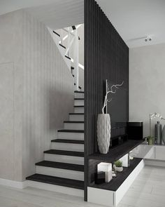 Interior Design Your Home, Home Stairs Design, Home Room Design, Dream Home Design, Living Room Designs, Bungalow House Design, Modern House Design, House Staircase, House Rooms