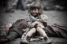 """War, greed and the power to control. There isn't enough money or power in the world that can make look at this and think """"survival of the fittest, oh well"""". Story Inspiration, Writing Inspiration, Character Inspiration, House Of Pain, Mundo Cruel, Refugees, Powerful Images, Save The Children, Grief"""
