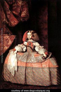 The Infanta Don Margarita de Austria c. 1660 - Diego Rodriguez de Silva y Velazquez - www.diegovelazquez.org