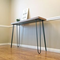 """Metal hairpin legs give furniture the perfect modern, industrial yet rustic look and feel that looks great in any interior home decor application. Made of solid heavy duty 1/2"""" inch thick metal steel"""