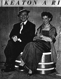 From Bob Borgen on www.facebook.com/... The Great Stoneface and his rare smile (in front of a camera) -. Buster Keaton and his wife Eleanor at Medrano Circus 1950s backstage
