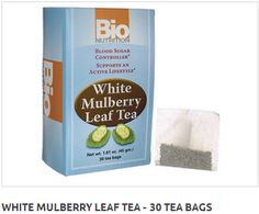 By BioNutrition Blood Sugar Controller Supports an Active Lifestyle  White Mulberry Leaf Tea has been traditionally used to support healthy blood sugar levels.  White mulberry leaf tea has been used in Traditional Chinese Medicine for over 400 years.