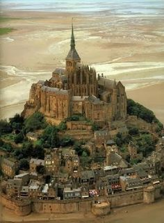 Mont St. Michel, France. During high tide you can only reach this place by boat!