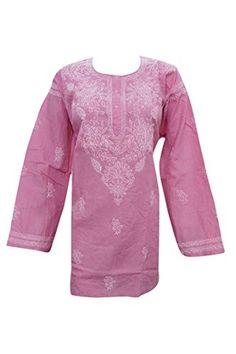 Woman's Tunic Blouse Dark Pink Cotton Kurti Lucknowi Caft... https://www.amazon.com/dp/B01B5VY3T6/ref=cm_sw_r_pi_dp_x_AJEXyb3087DMZ