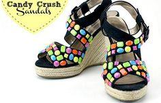 Decorar sandalias con piedras http://ropadiy.com/customizar-zapatos/decorar-sandalias-con-piedras/