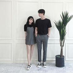 Official Korean Fashion : Korean Couple Look Matching Couple Outfits, Matching Couples, Cute Couples, Korean Fashion Men, Ulzzang Fashion, Mens Fashion, Korean Couple, Ulzzang Couple, Fashion Couple