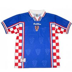 1998 Croatia Away Blue Retro Jersey Shirt sale f1b3837dd