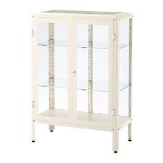 FABRIKÖR Glass-door cabinet - white  - IKEA