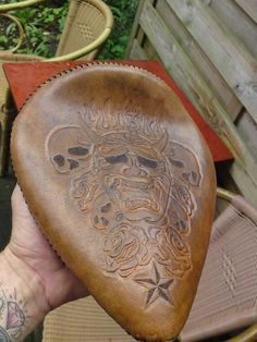 Chopper Seat with your own design..  www.perroleatherworks.com