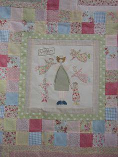 Susanpatch: Angel story quilt TERMINADO Hatch Patch, Anni Downs, Angel Stories, Applique, Patches, Angels, Textiles, Quilts, Blanket