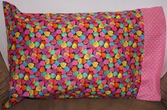 Travel Pillowcase Lots of Hearts   Fit pillow size by bubblenbee
