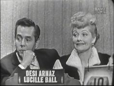 ▶ What's My Line? - Lucille Ball & Desi Arnaz (Oct 2, 1955) - YouTube (I'm posting these to watch later, I will forget they are there. They are cracking me up but I mostly only watch the last 10 minutes.)