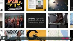 Projeqt | Non-linear presentation platform Projeqt, aside from combining responsive design and an intuitive user interface with a real-time twist, provides an easy way to pull material from multiple sources and insert it straight into your presentation.
