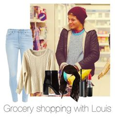 """Grocery shopping with Louis"" by autumnfarmer ❤ liked on Polyvore featuring Paige Denim, Forever 21, WigYouUp, NARS Cosmetics and MAC Cosmetics"